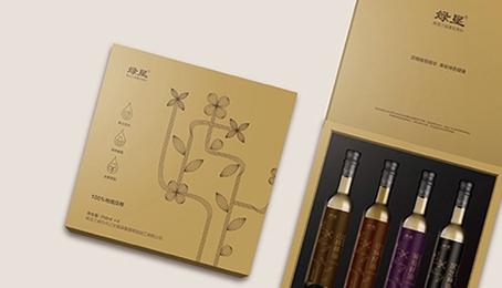 绿垦植物油(礼盒设计制作)